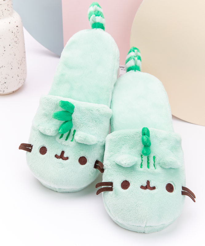 Pusheenosaurus Plush Slippers