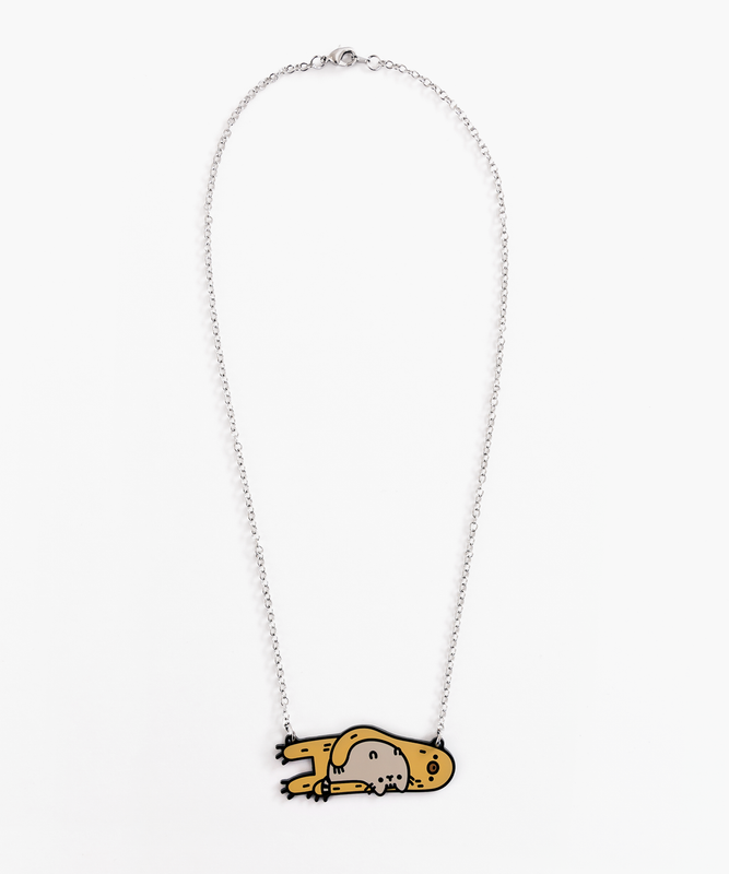 Pusheen & Sloth Necklace
