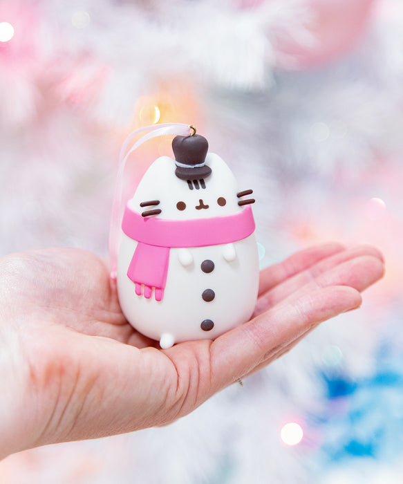 Snowman Pusheen Ornament