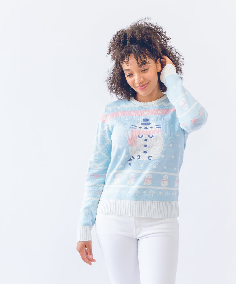 Snowman Pusheen Unisex Holiday Sweater