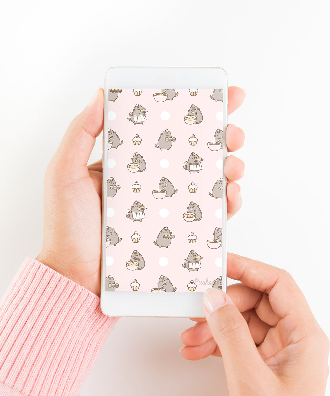 Mixin' it Up Pusheen Wallpaper