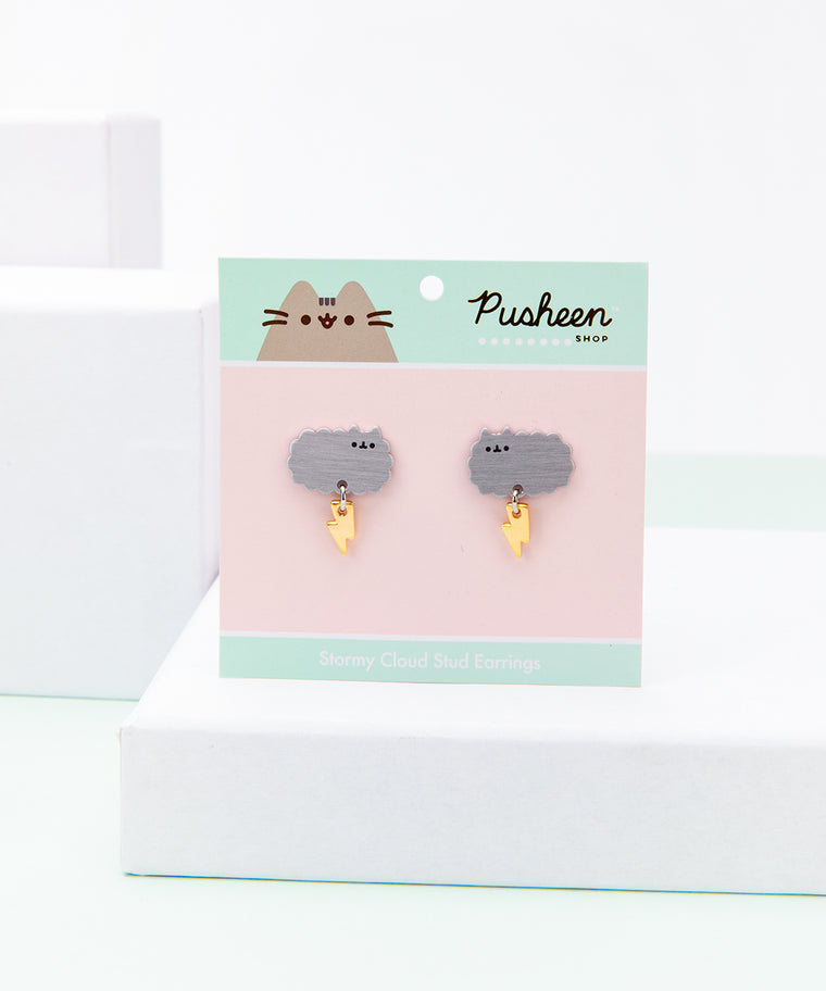 Stormy Cloud Stud Earrings