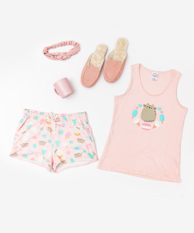 Pusheen & Sweets Pink Pajama Set