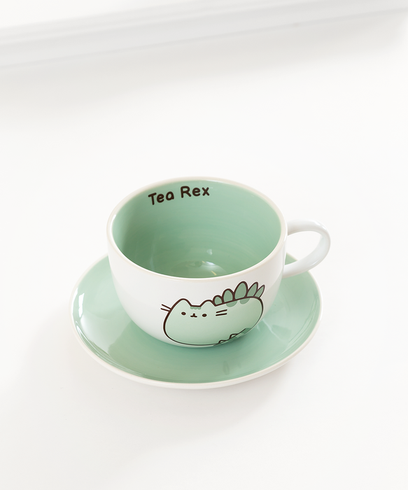Pusheenosaurus Teacup & Saucer Set