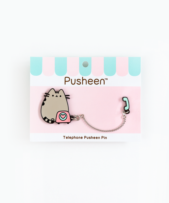 Telephone Pusheen Pin
