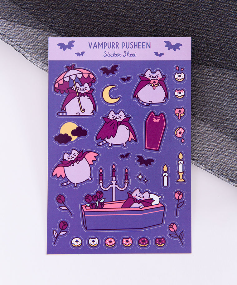Vampurr Pusheen Sticker Sheet