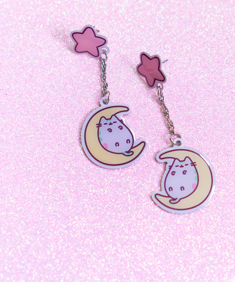 Pastel Pusheen Stud Earrings