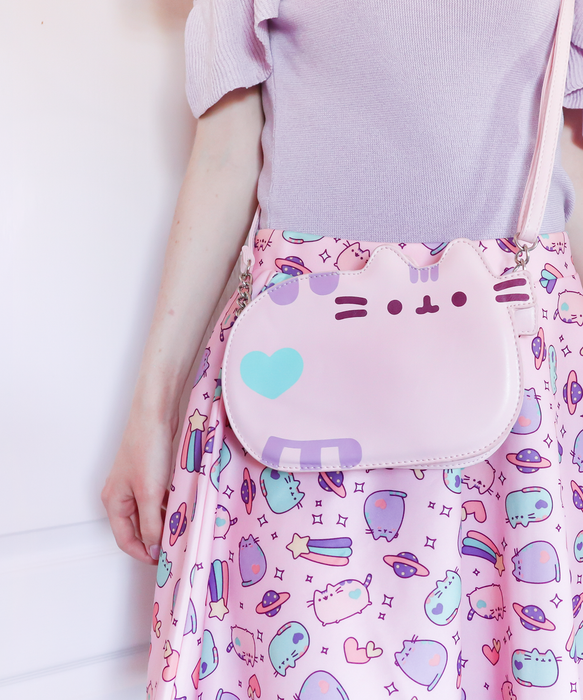 Pink Pastel Pusheen Crossbody Purse