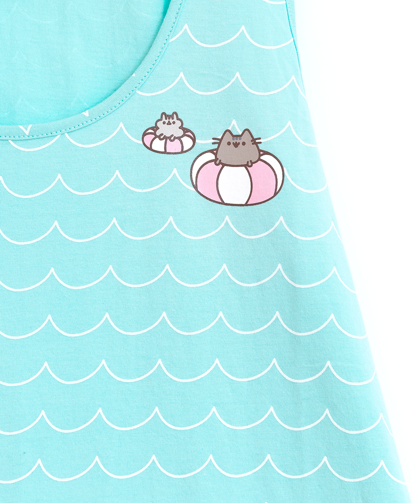 Pusheen & Stormy Waves Ladies Tank Top