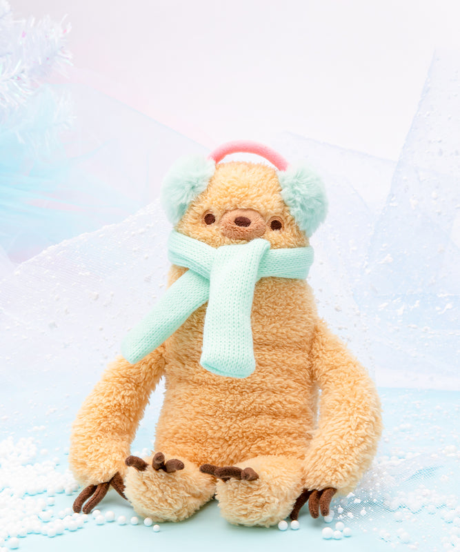 Winter Sloth Mini Plush