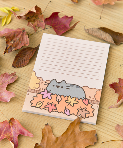 Pusheen Autumn Leaves notepad