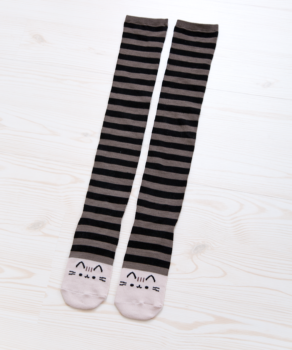 Pusheen Black Striped Knee Socks