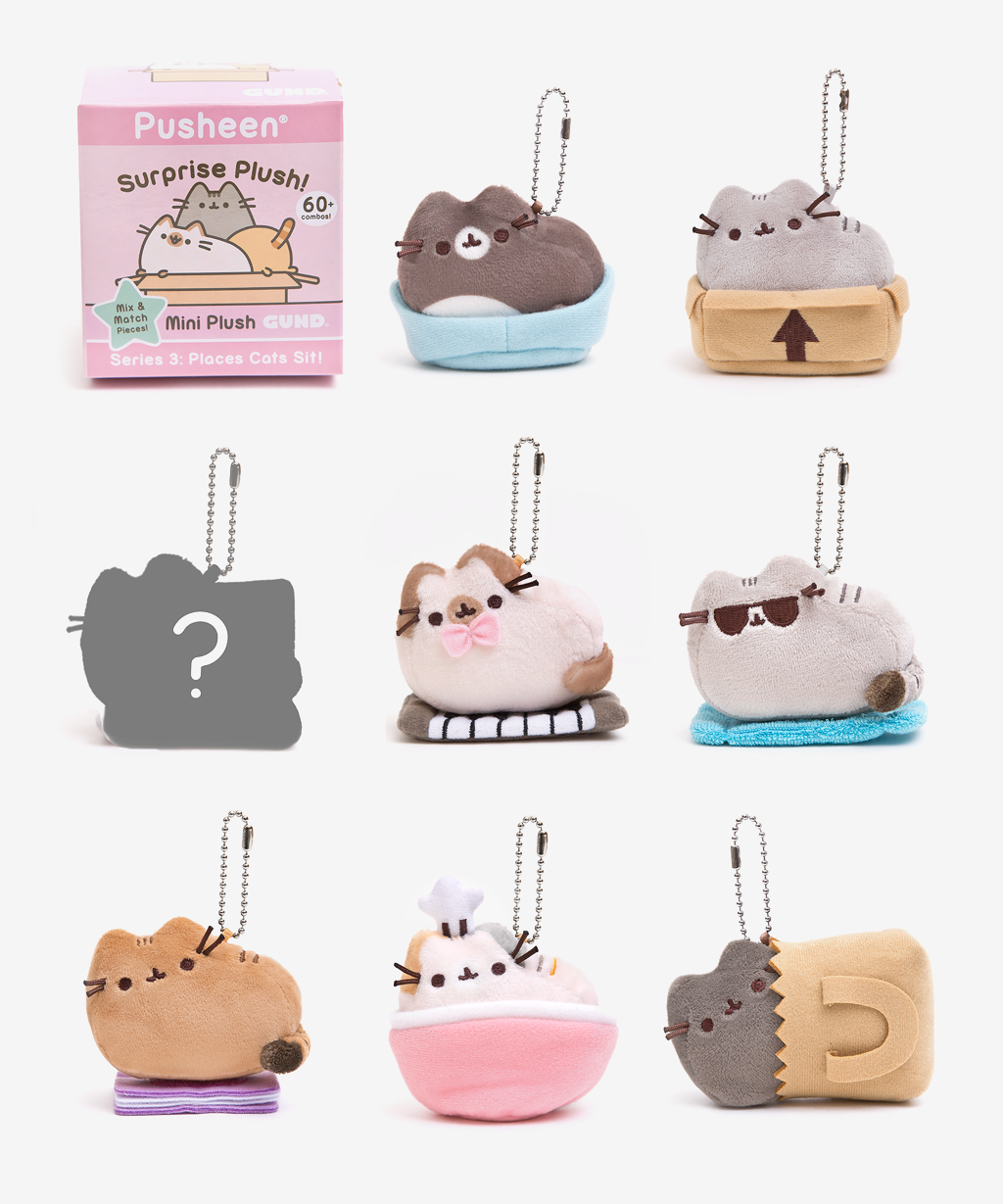 Pusheen Surprise Plush Blind Box Places Cats Sit Hey