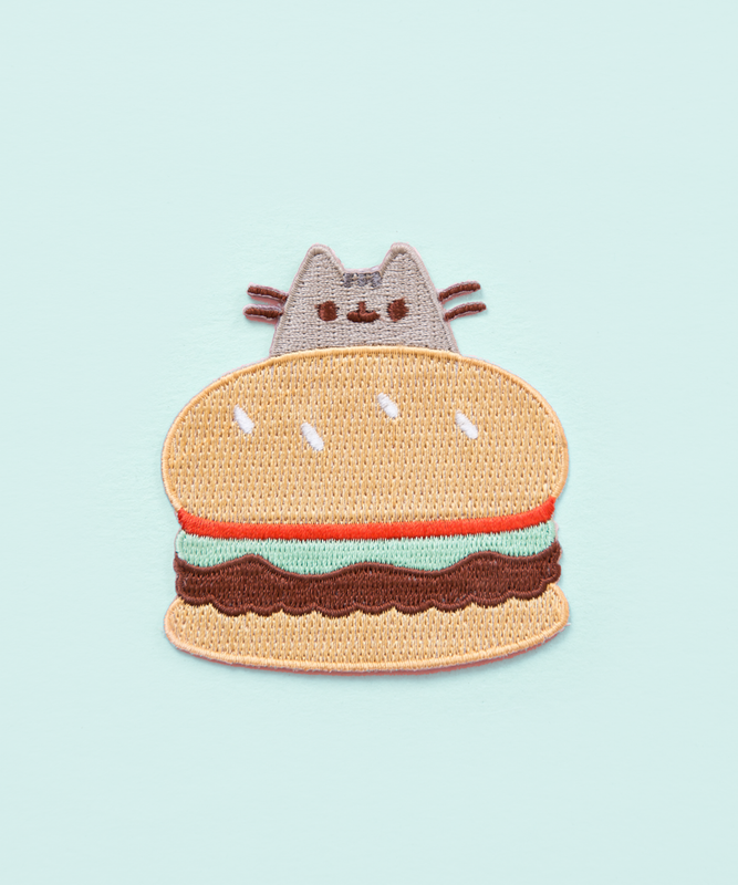 Burger Pusheen Iron On Patch