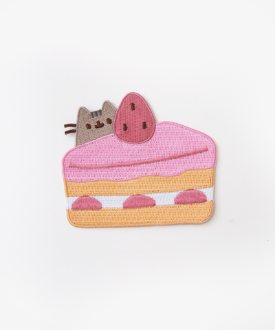 Cake Pusheen iron on patch