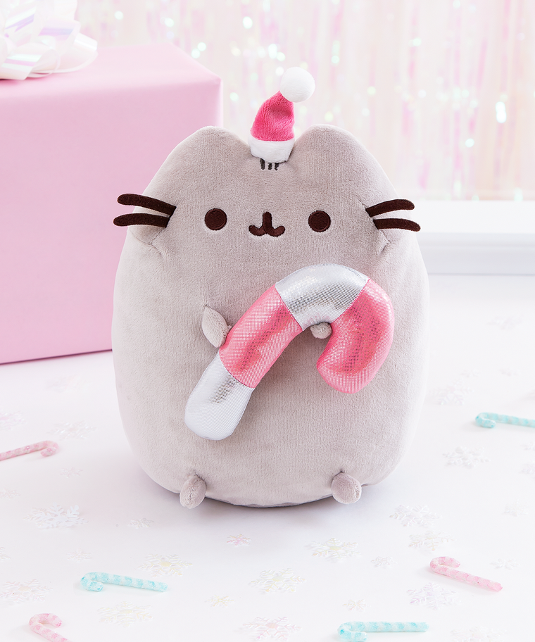 Candy Cane Pusheen Plush Toy