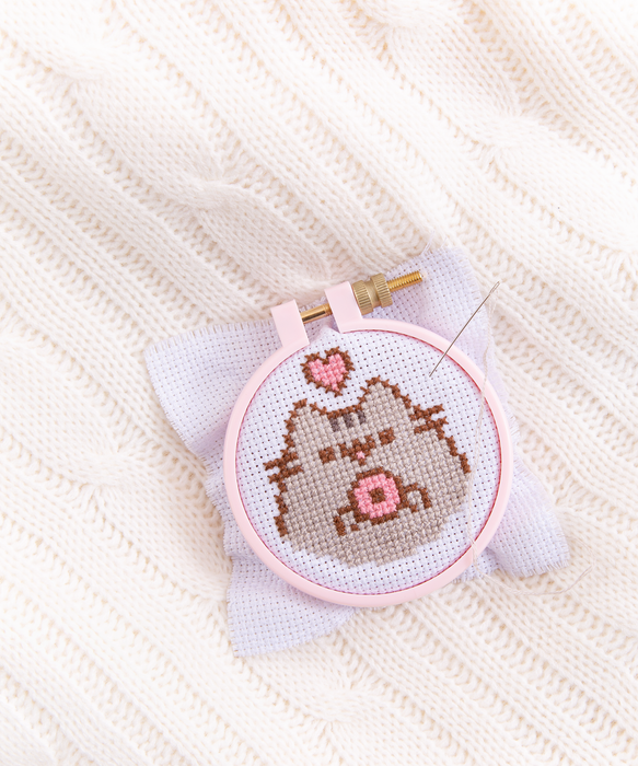 Pusheen DIY Cross-Stitch Kit