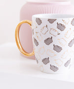 Pusheen Patterned Gold Foil Mug