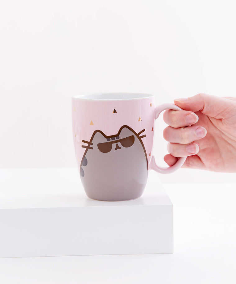 Cool Pusheen Gold Foil Mug