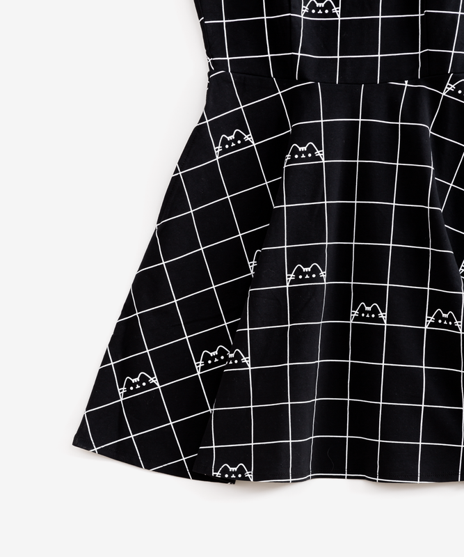 Pusheen Black Grid Dress