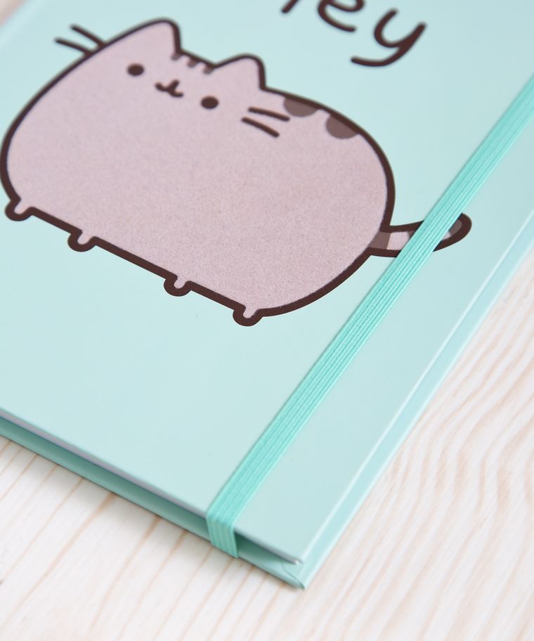Hey Pusheen Flocked Journal