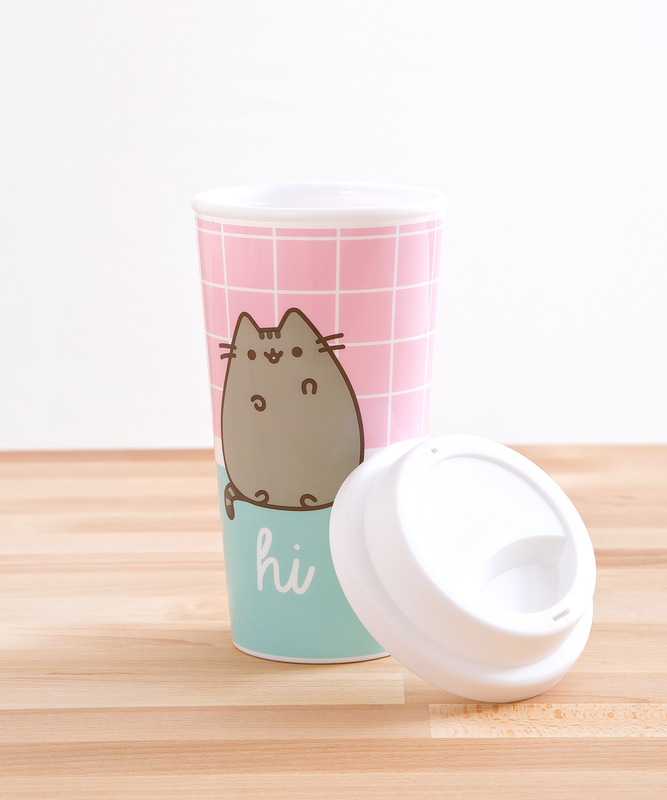 Pusheen Hi Bye Travel Mug