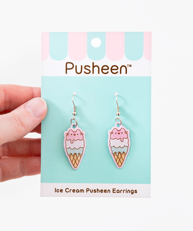Ice Cream Pusheen Earrings