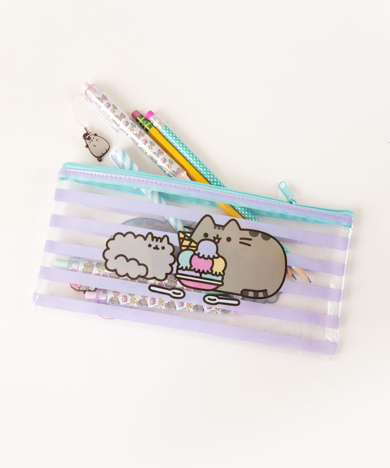 Pusheen Striped Pencil Pouch