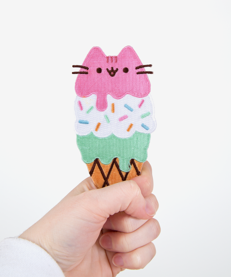 Ice Cream Pusheen Iron On Patch