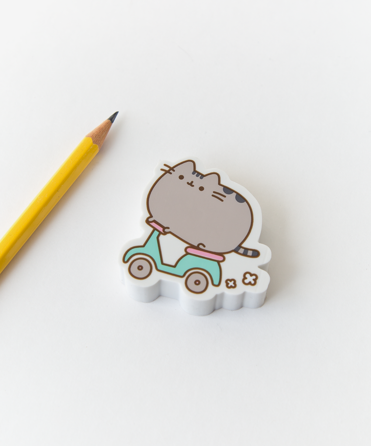 Exclusive Scooter Pusheen Jumbo Eraser