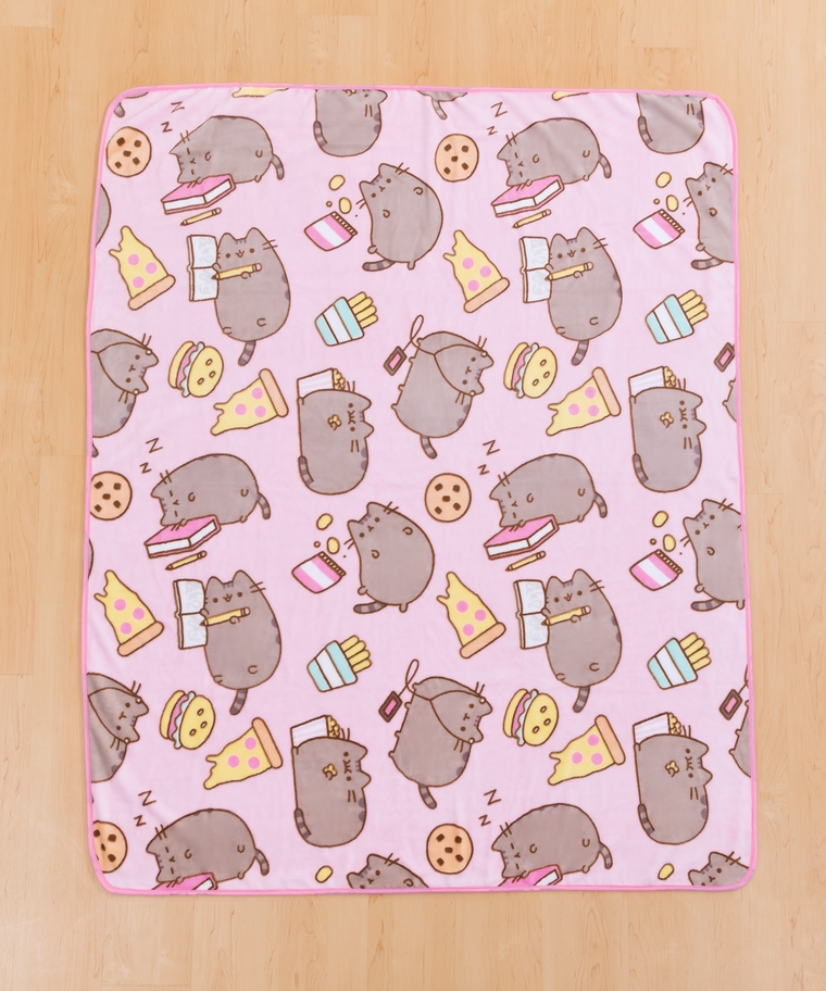 Junk Food Pusheen Plush Throw Blanket