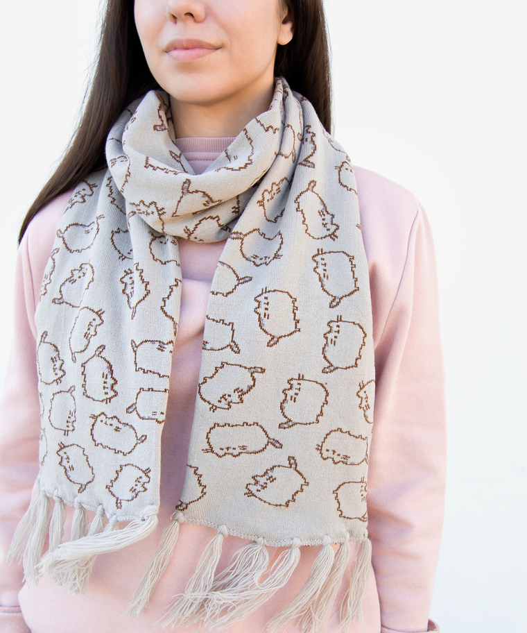 Pusheen Knit Scarf