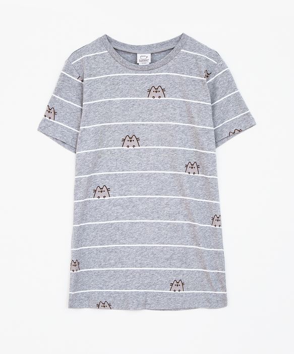 Pusheen Striped Ladies Tee
