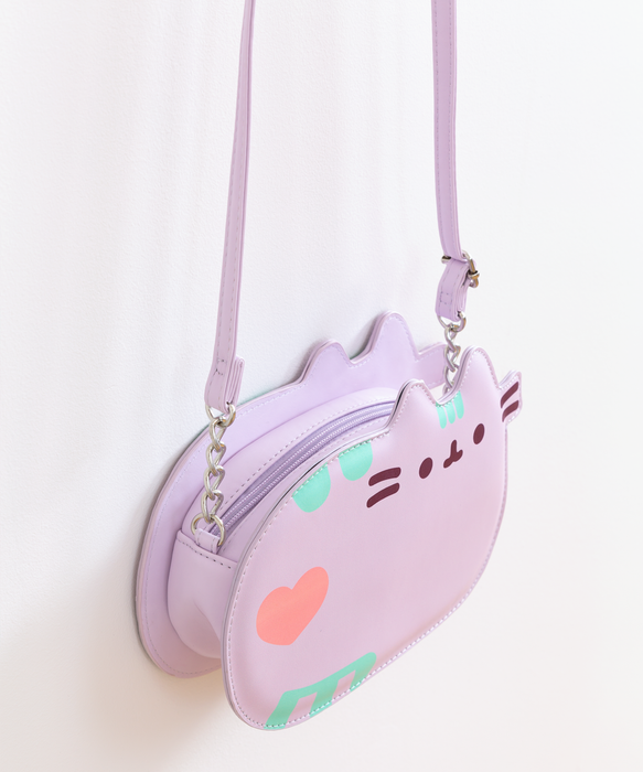 Lilac Pastel Pusheen Crossbody Purse