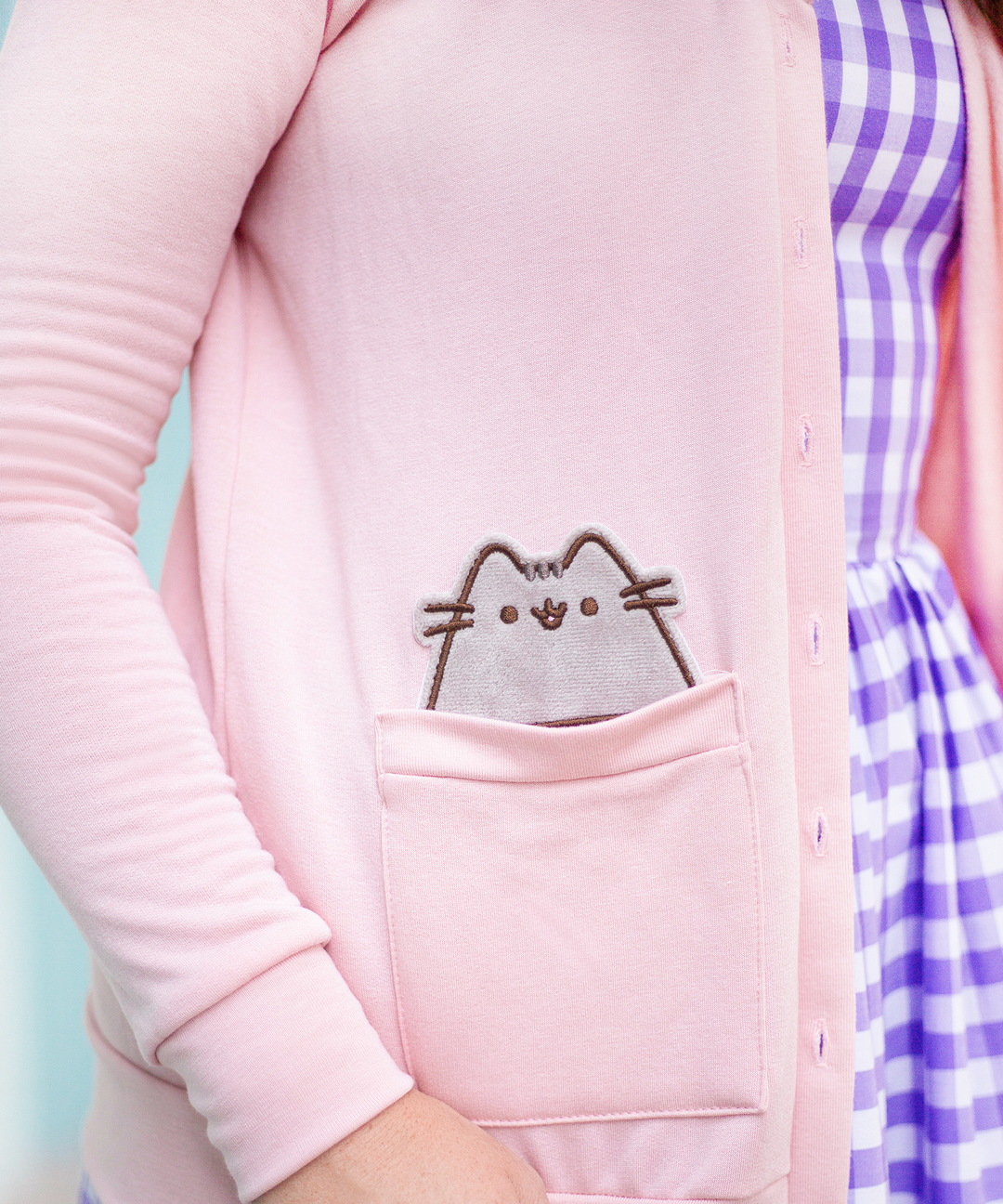 Pusheen Fleece Cardigan with Sailor Collar – Hey Chickadee 41b5625ab