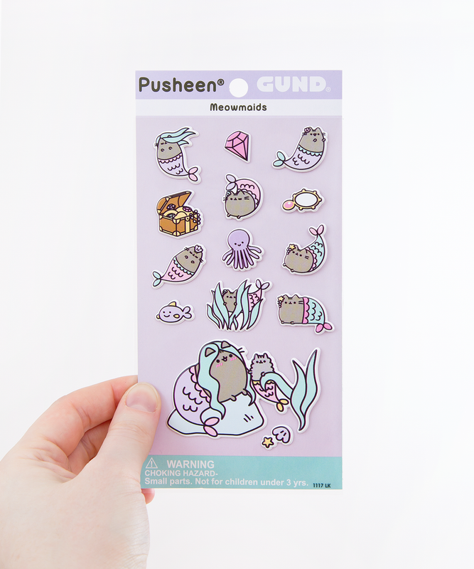 Mermaid Pusheen Puffy Bubble Sticker Sheet