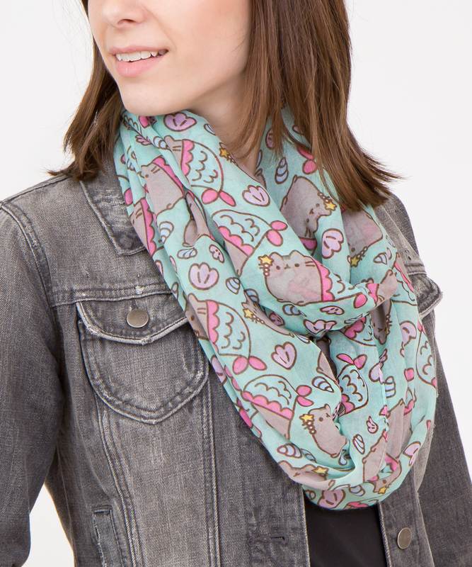 Mermaid Pusheen Print Infinity Scarf