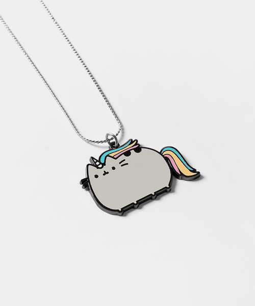 Metal Pusheenicorn necklace