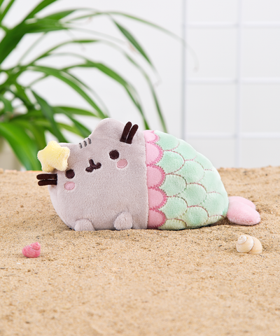 Mini Mermaid Pusheen plush toy in Mint
