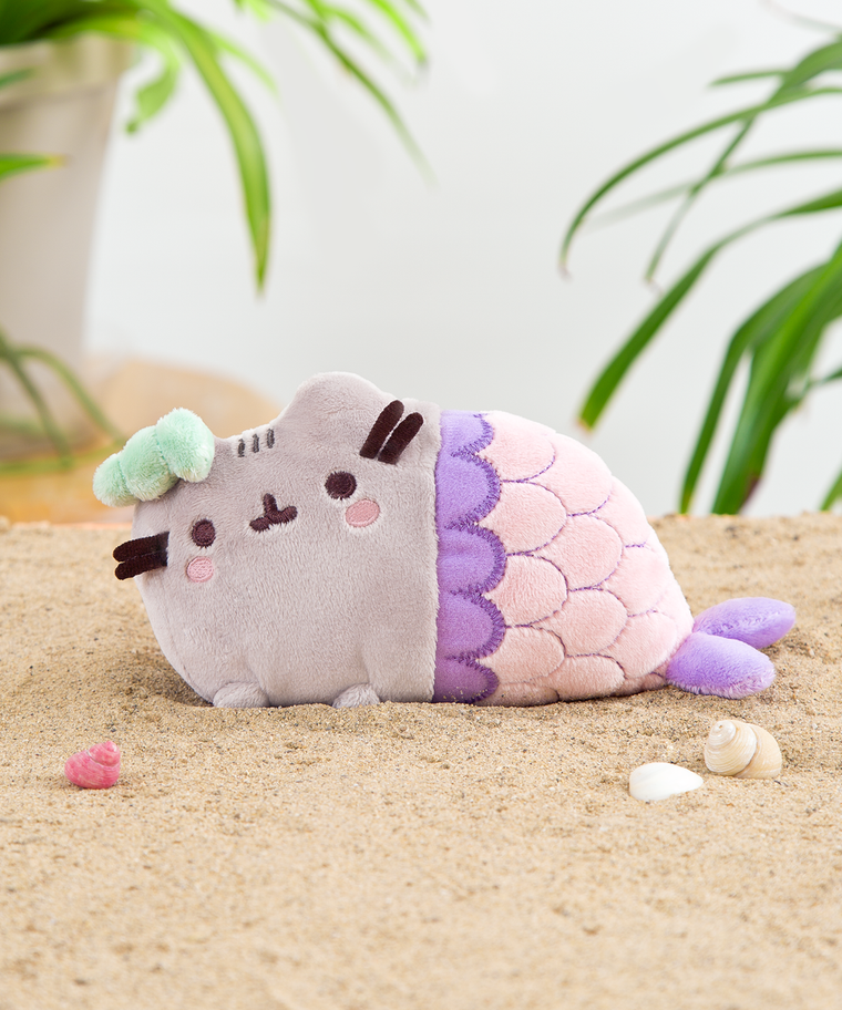 Mini Mermaid Pusheen Plush Toy in Pink