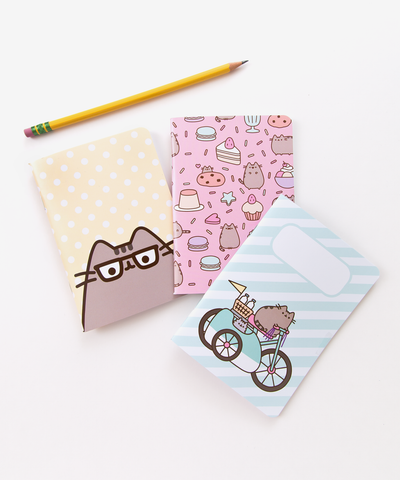 Pusheen pocket notebook trio