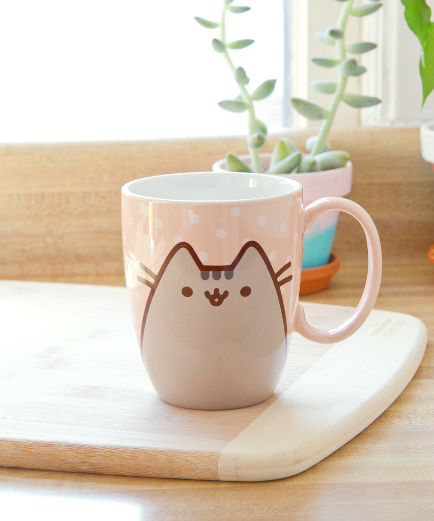pusheen polka dot mug hey chickadee. Black Bedroom Furniture Sets. Home Design Ideas