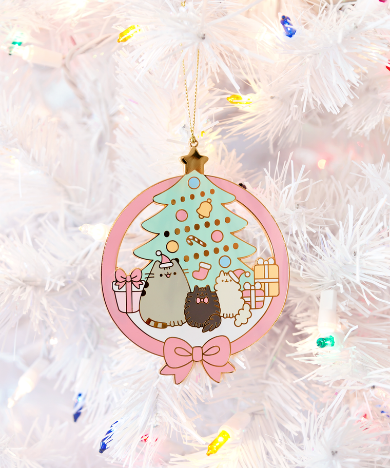 Limited Edition Pusheen & Family metal ornament