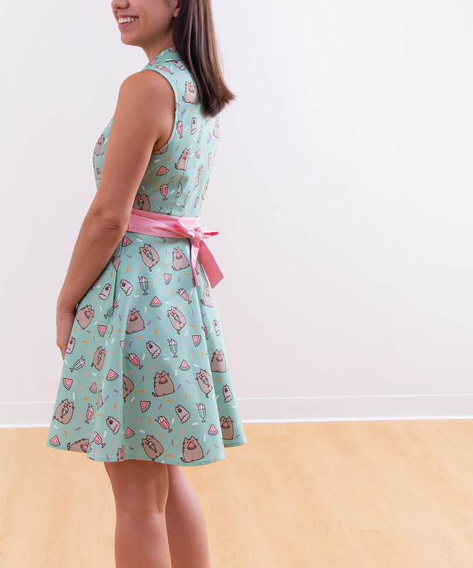 Pusheen Button-Up Party Dress
