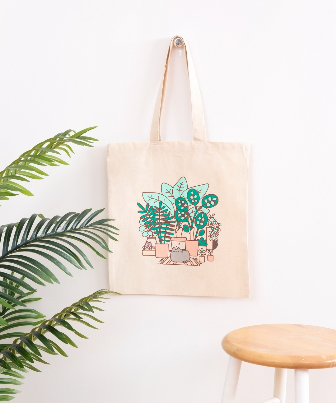 Pusheen & Plants Tote Bag