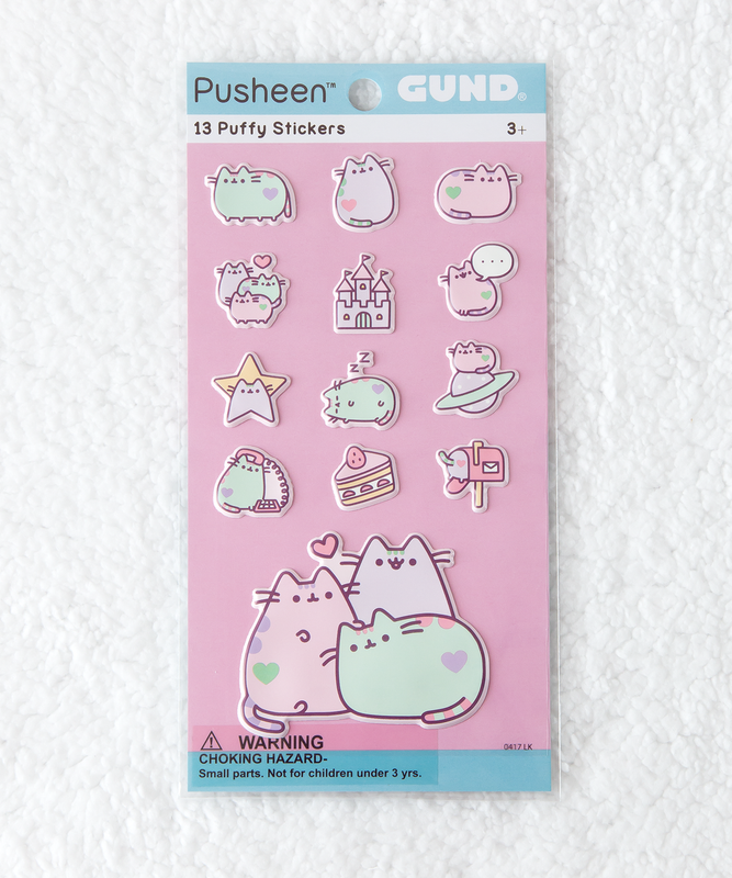 Pastel Pusheen Puffy Bubble Sticker Sheet
