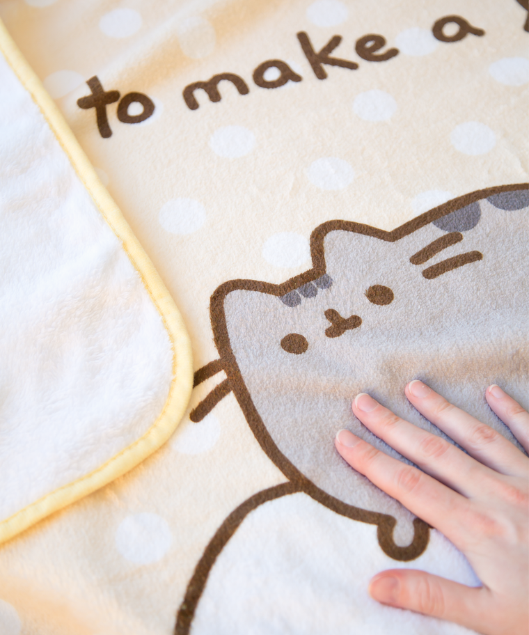 Exclusive Pusheen Purrito Plush Throw Blanket