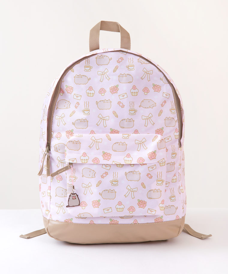 Pusheen Pink All-Over Print Backpack