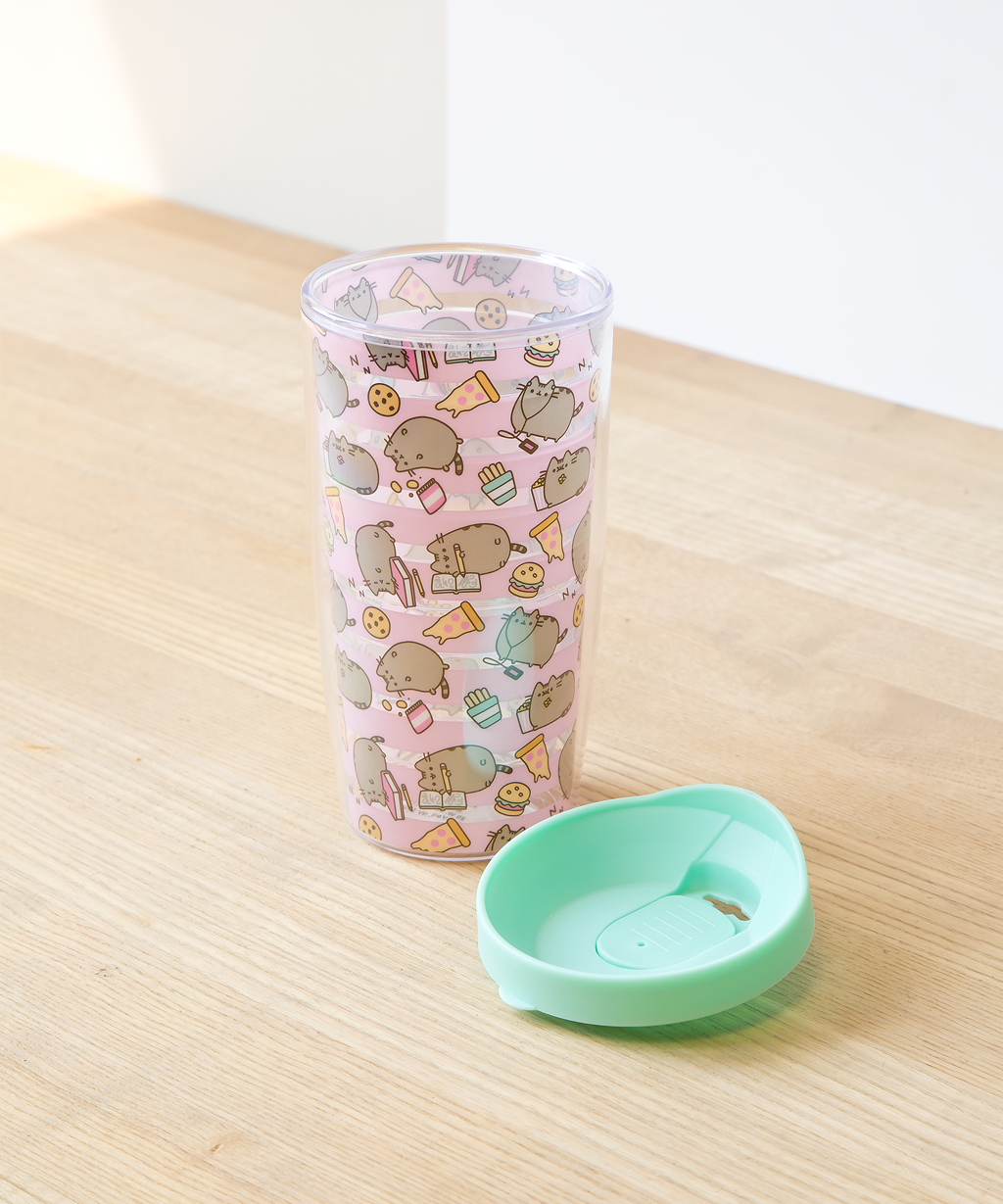 Pusheen Striped Travel Mug