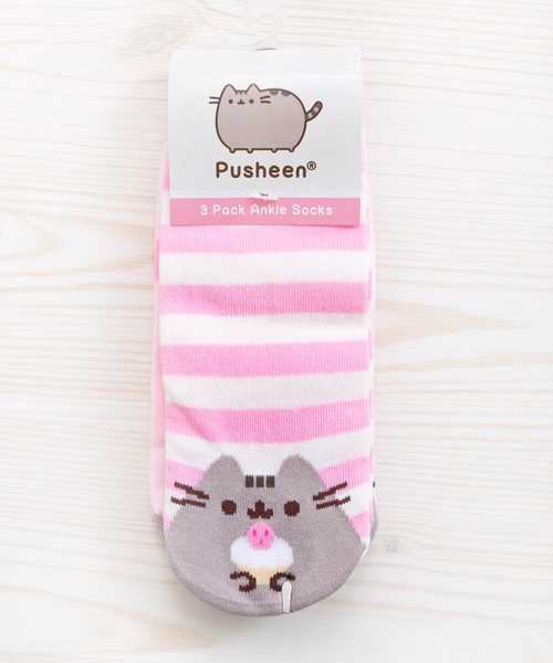 Pusheen Sweets 3-pack ankle socks
